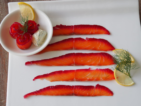 Beetroot Salmon Gravlax 600x450