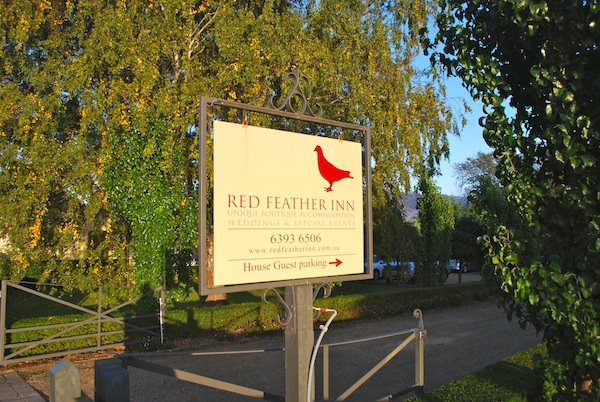 Red Feather Sign 600x400