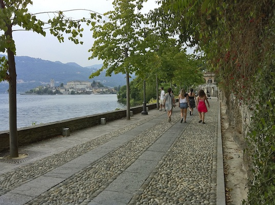 Orta Walk Sunset