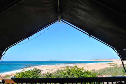 View from Jumigee Safari Tent balcony